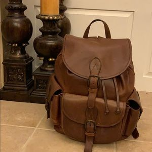 Leather backpack made in the USA